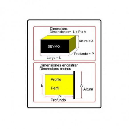Panel Voltimetro/Amperímetro con interruptores (V) 50 Ah